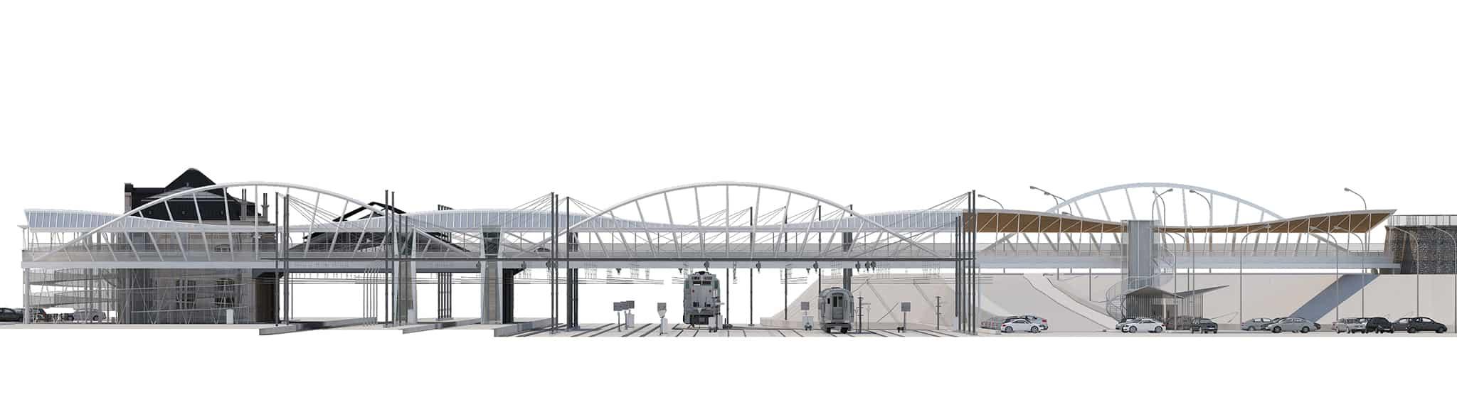 B+M Architecture - Elévation concours