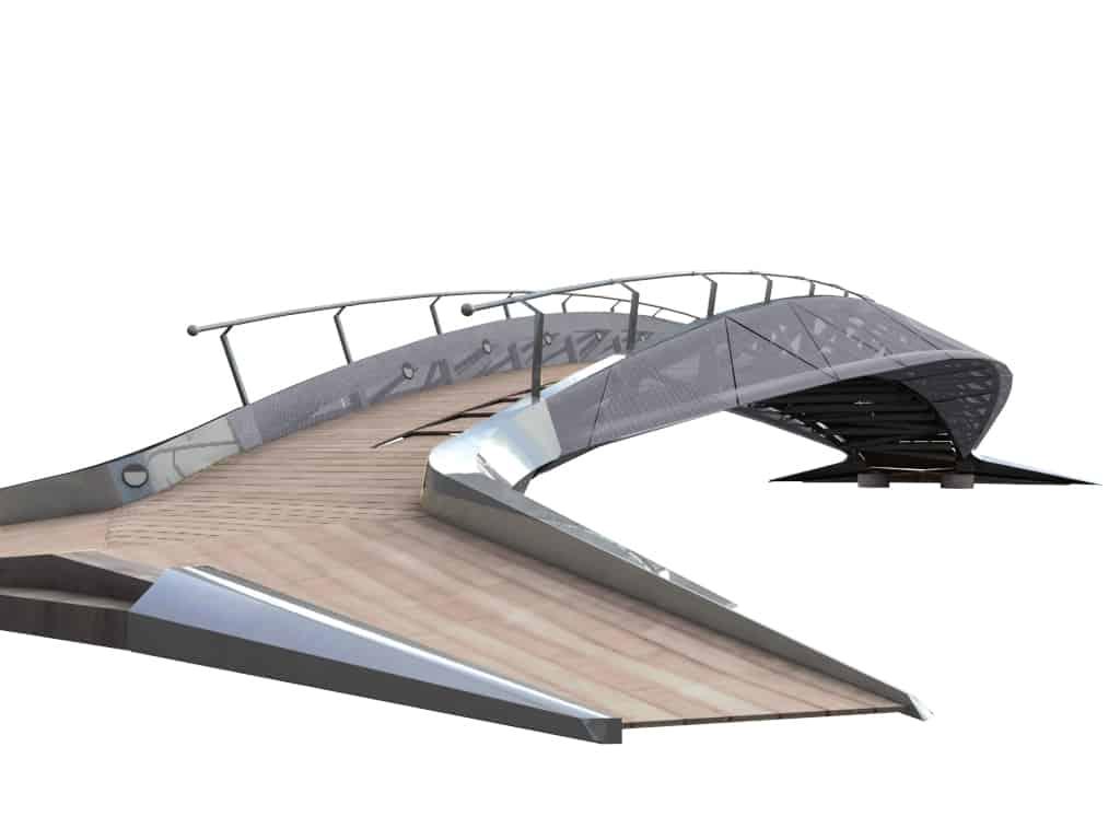 B+M Architecture - Profil aérodynamique de la passerelle