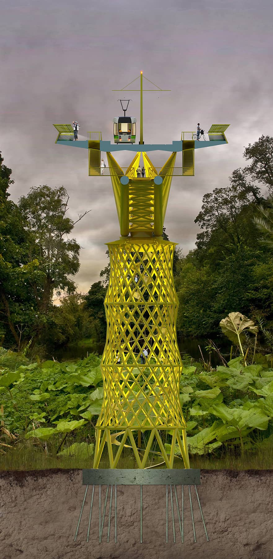 B+M Architecture - Liffey-des fondations superficielles