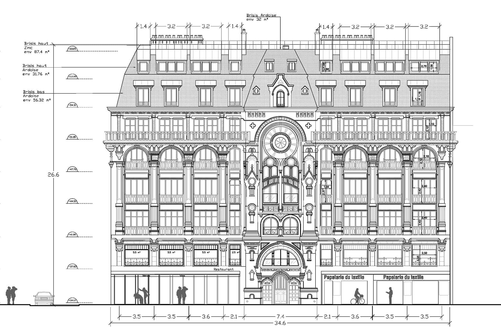 B+M Architecture - Façade nord