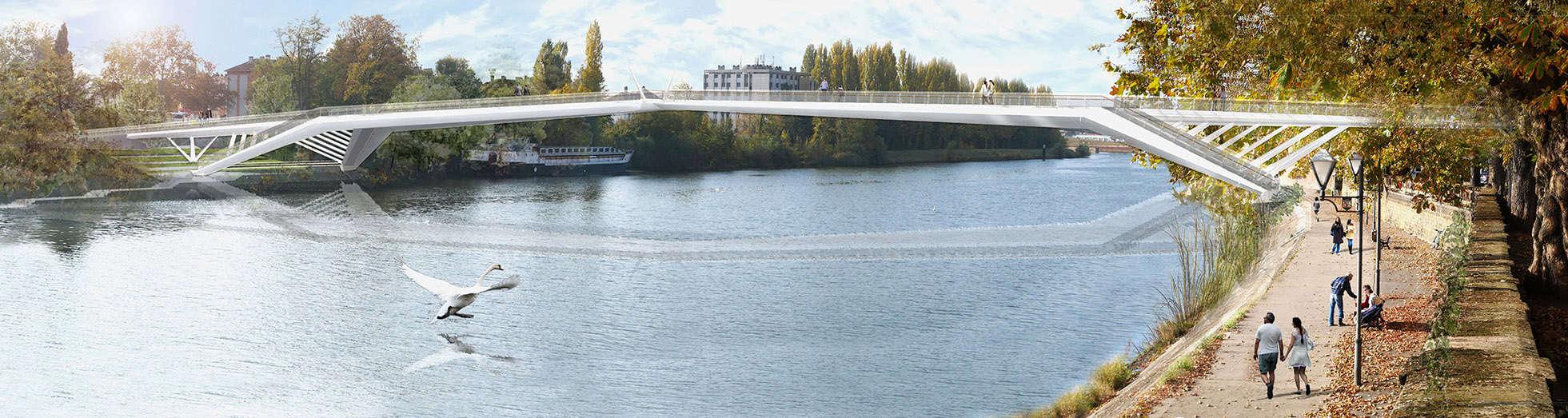 B+M Architecture - Vue depuis le pont des Alliés